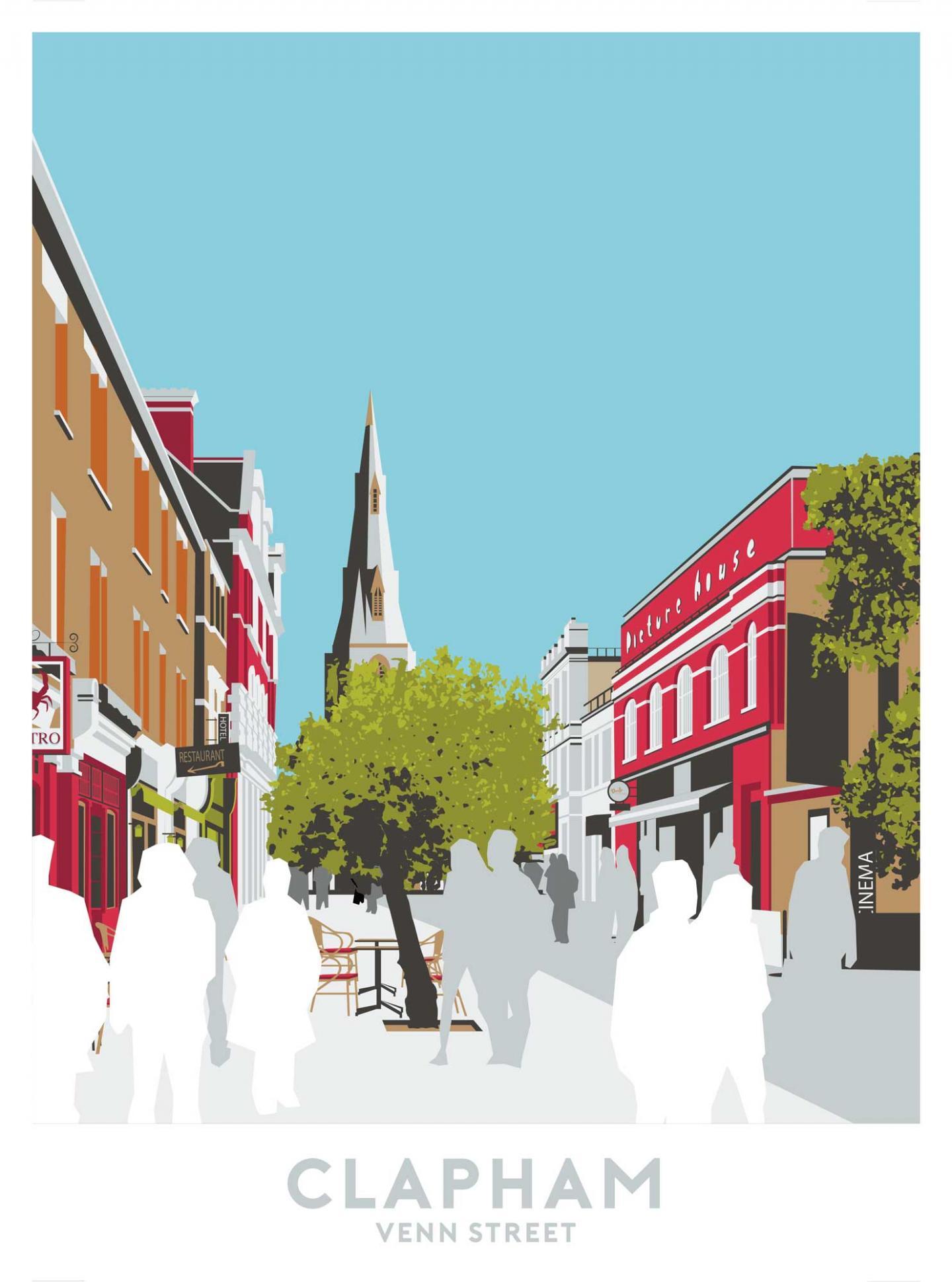 Place in Print Venn Street, Clapham Travel Poster Art Print