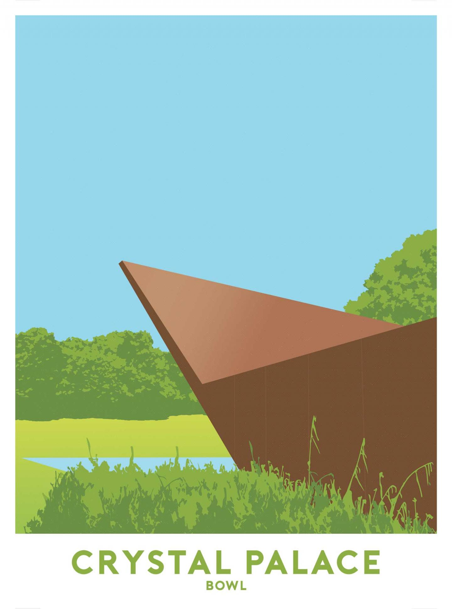 Place in Print Crystal Palace Bowl 2 Travel Poster Art Print