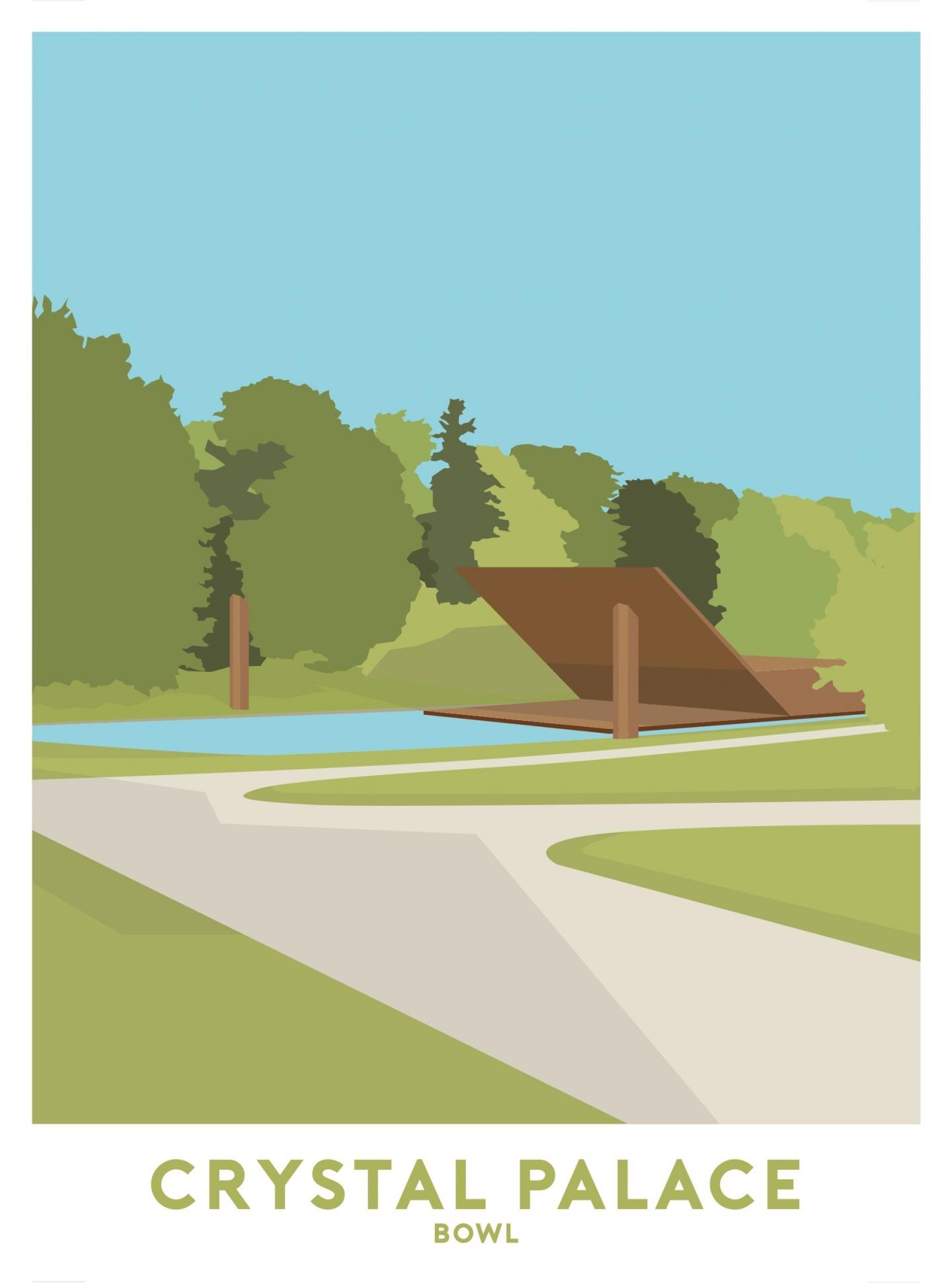 Place in Print Crystal Palace Bowl Travel Poster Art Print