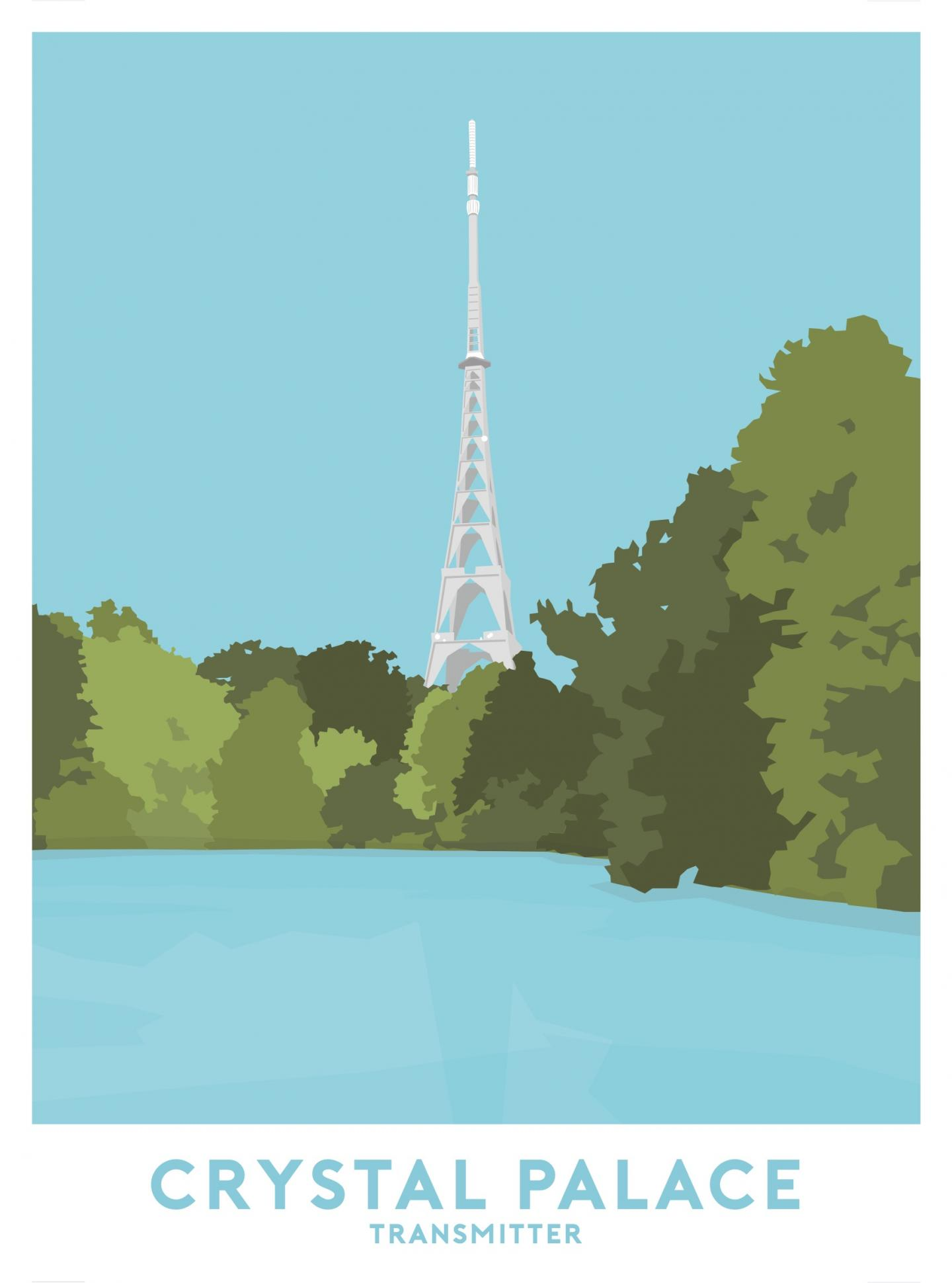 Place in Print Crystal Palace Transmitter Travel Poster Art Print