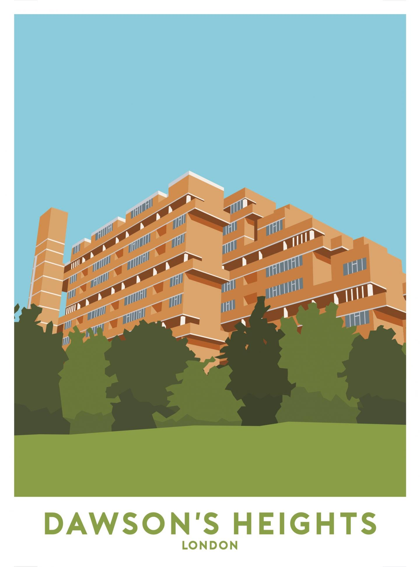 Place in Print Dawson's Heights Travel Poster Art Print