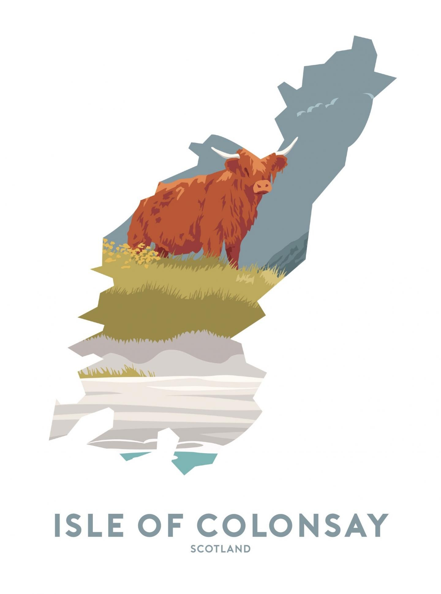 Place in Print Stephen Millership Isle of Colonsay - Scotland Travel Poster Art Print