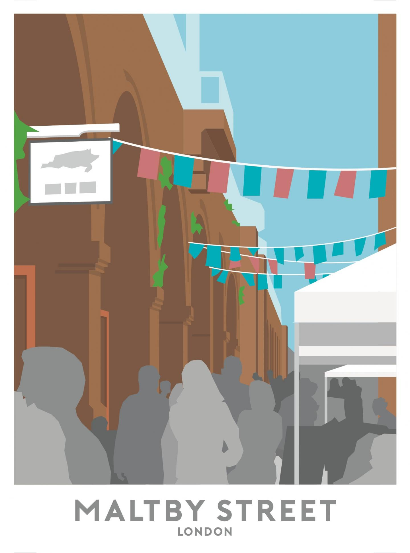 Place in Print Maltby Street Market Travel Poster Art Print