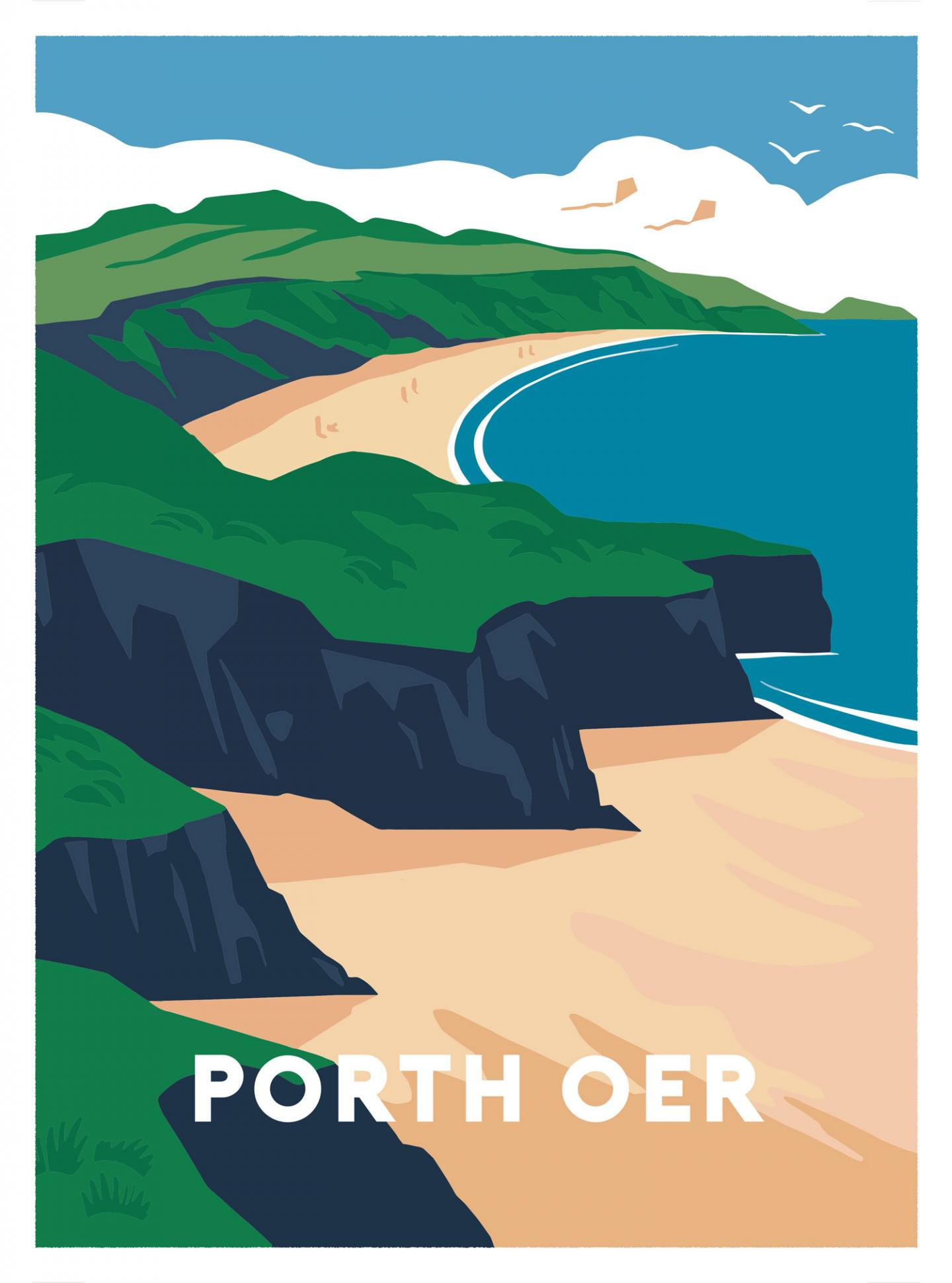 Place in Print Porth Oer Art Print