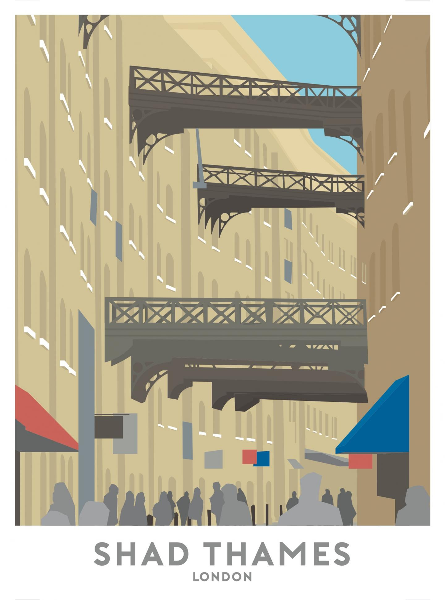 Place in Print Shad Thames Travel Poster Art Print