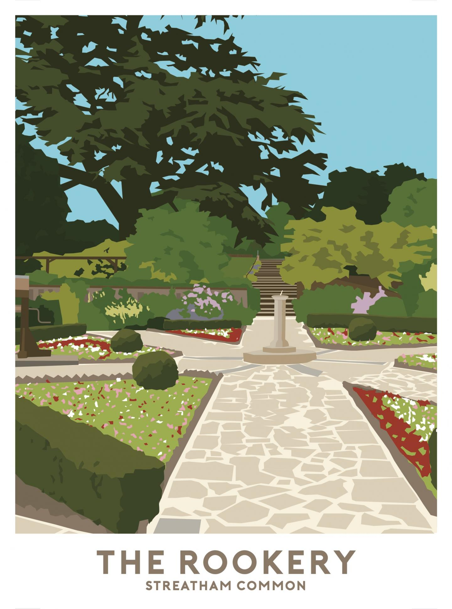 Place in Print The Rookery Streatham Travel Poster Art Print