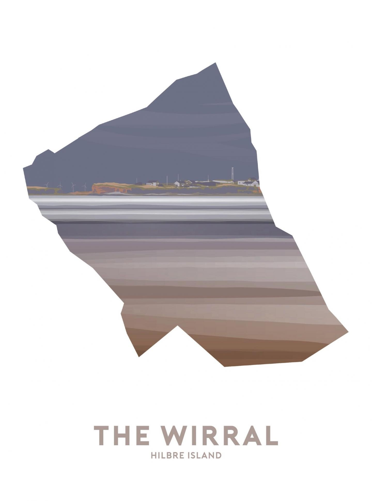 Place in Print Stephen Millership The Wirral - Hilbre Island Travel Poster Art Print