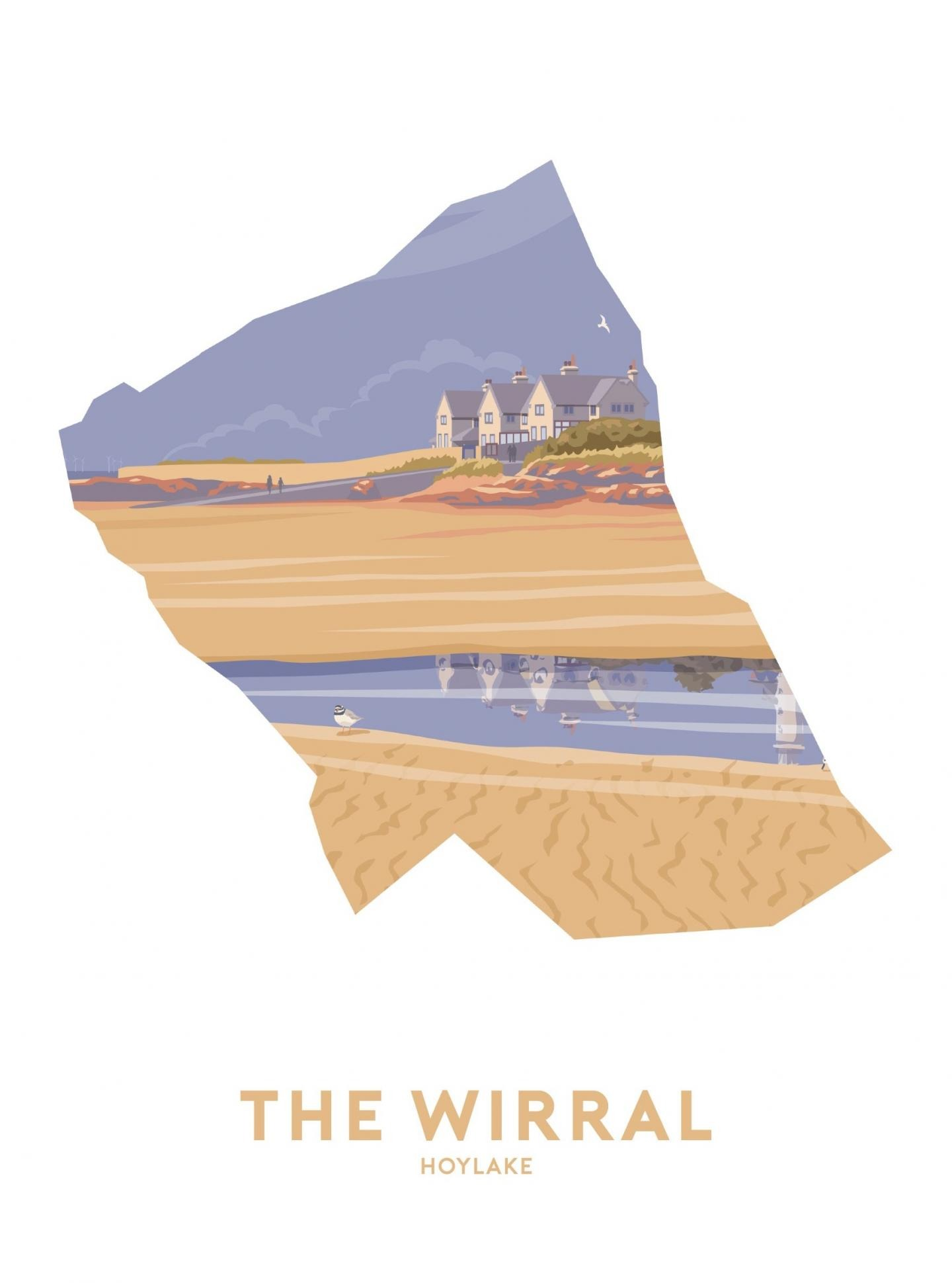 Place in Print Stephen Millership The Wirral - Hoylake Travel Poster Art Print