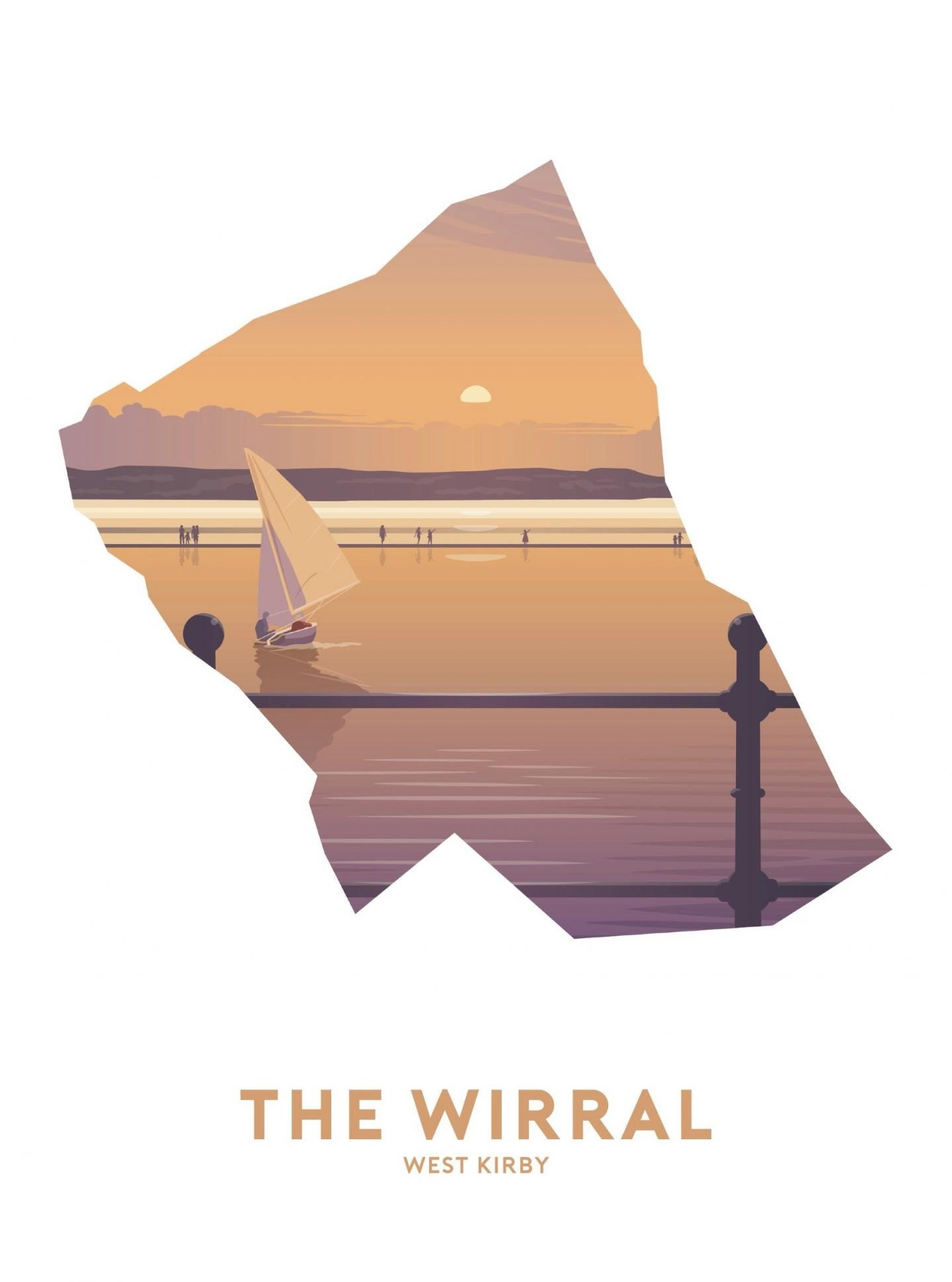 Place in Print Stephen Millership The Wirral - West Kirby Travel Poster Art Print