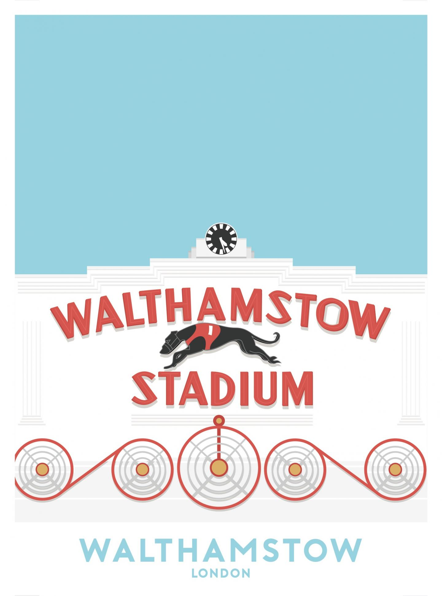 Place in Print Walthamstow Stadium Travel Poster Art Print