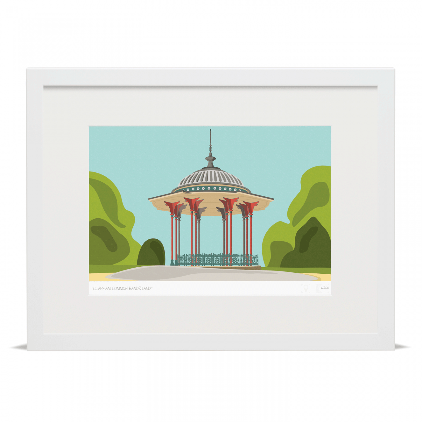 Place in Print South London Prints Clapham Common Bandstand Art Print