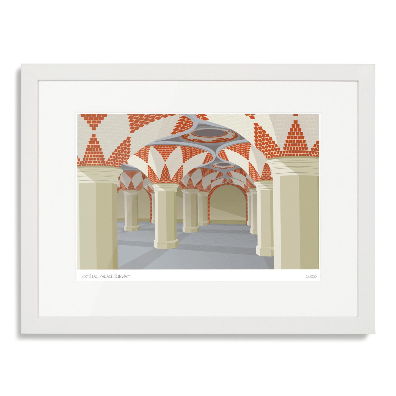 South London Prints Crystal Palace Subway Art Poster Print