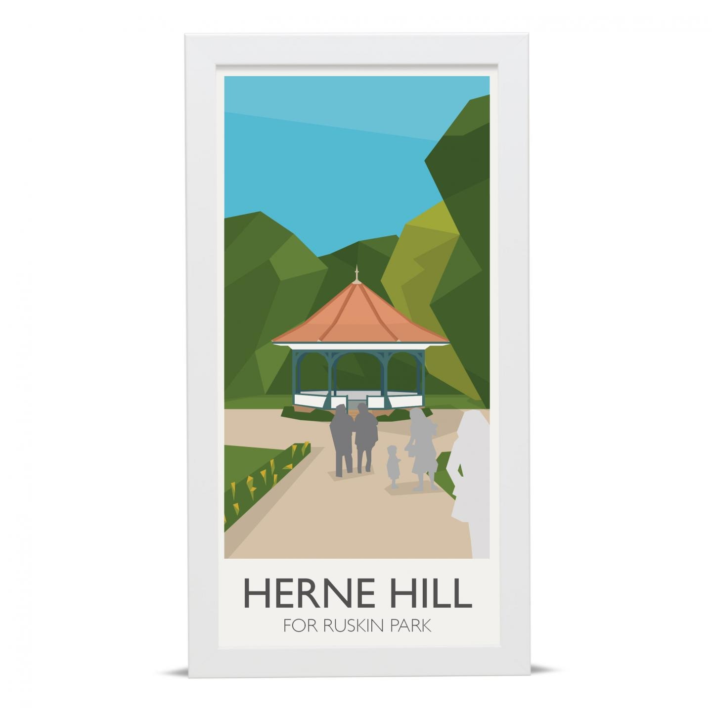 Place in Print Herne Hill Lamppost Banners Ruskin Park Art Poster Print