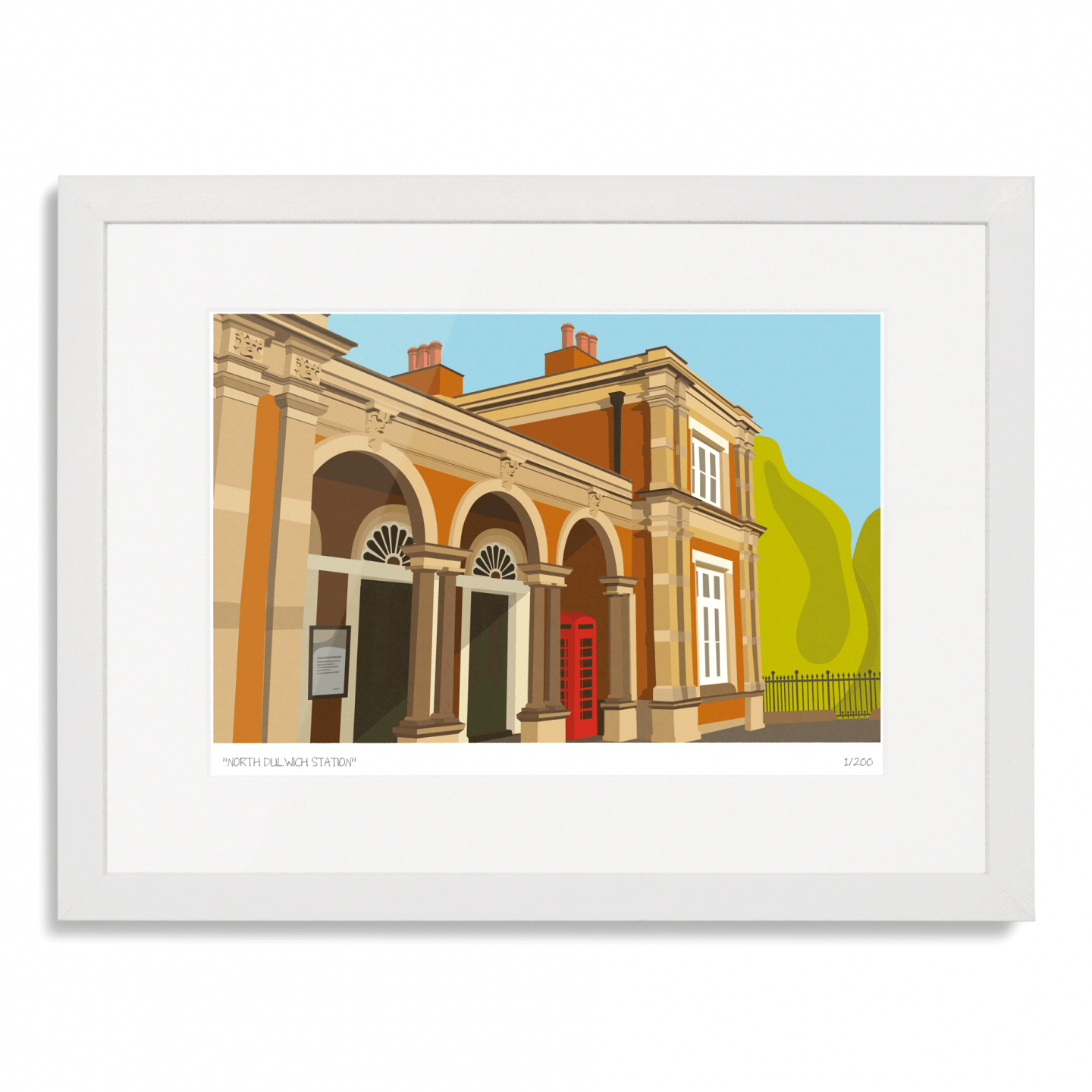 North Dulwich Station Art Poster Print
