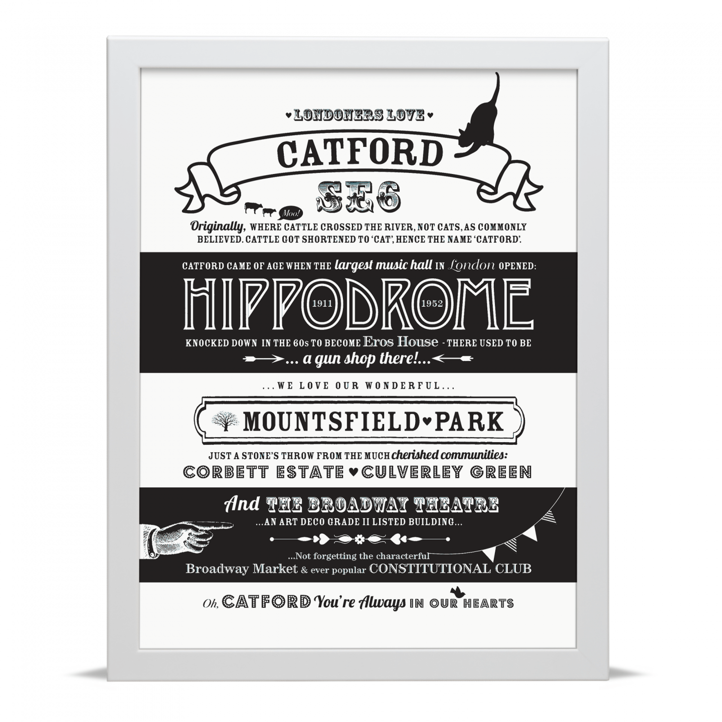 Place in Print Octavia Plum Catford Love Your Location Art Print