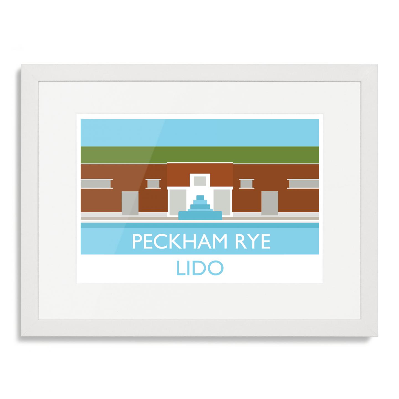 Place in Print Peckham Rye Lido Art Poster Print