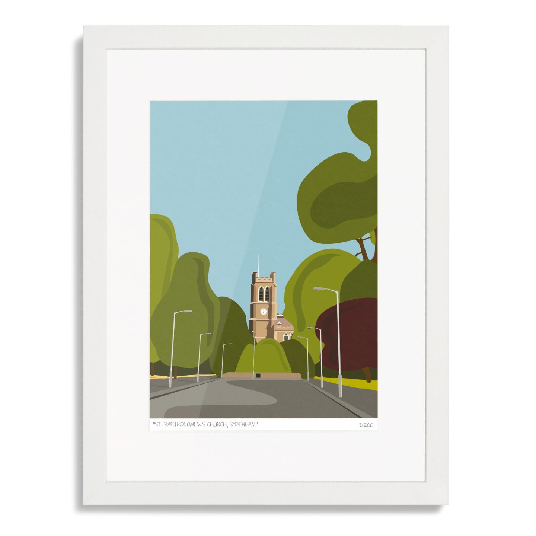 St Bartholomews Church Sydenham Art Poster Print