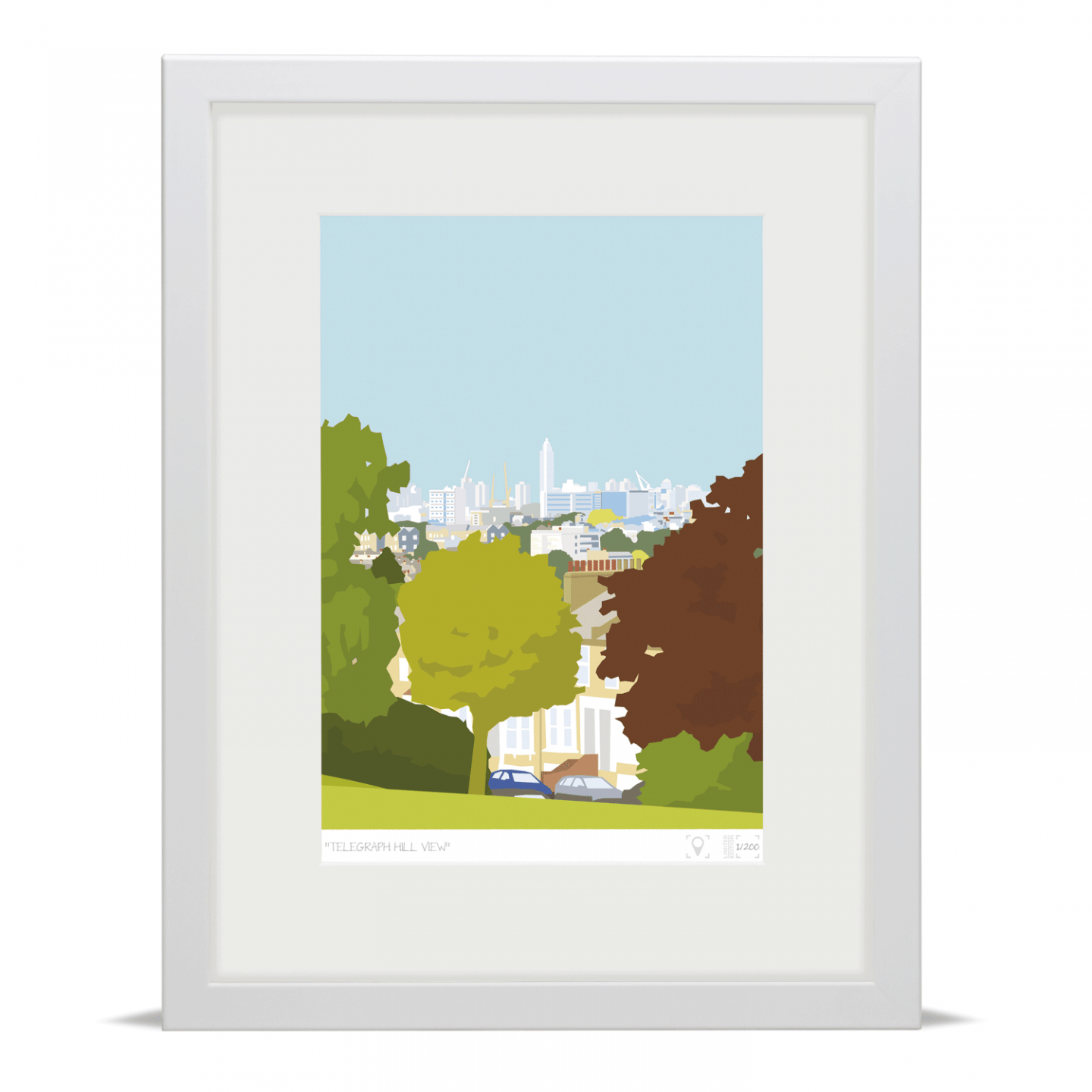 Place in Print Telegraph Hill View Brockley Art Print