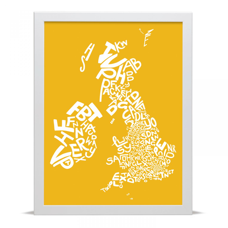 Place in Print UK Ireland Postcodes Map Art Poster Print