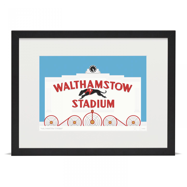 Place in Print Walthamstow Stadium Art Poster Print Black Frame