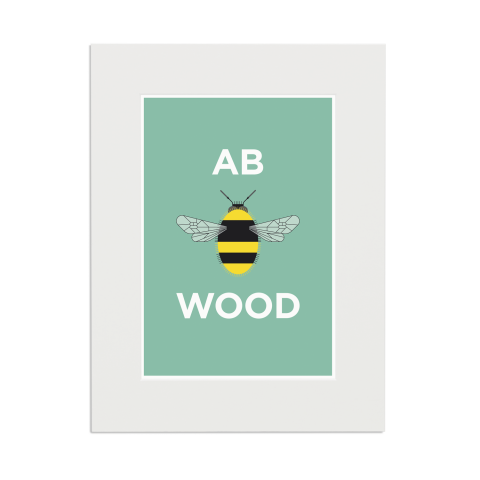 Place in Print Pate Abbey Wood Neighbourhood Pun Art Print Mounted