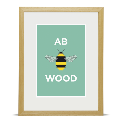 Place in Print Pate Abbey Wood Neighbourhood Pun Art Print Wood Frame