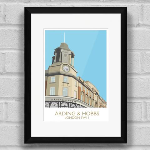 Arding and Hobbs Art Print Black Frame