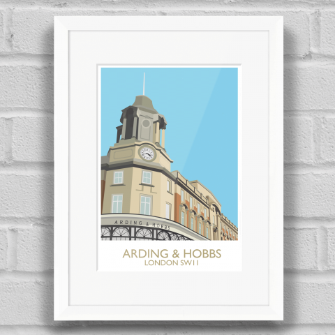 Arding and Hobbs Art Print White Frame