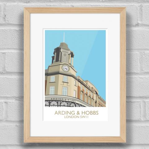 Arding and Hobbs Art Print Wood Frame