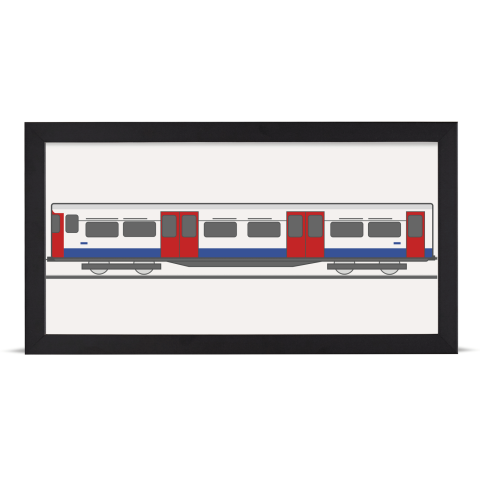 Place in Print Bakerloo Line 1972 Stock Train Front Section Art Print Black Frame