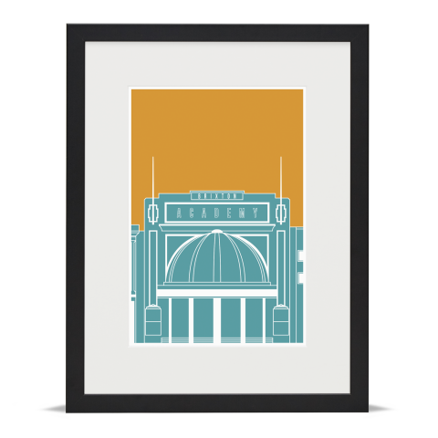 Brixton Academy Blueprint Blue Gold Black Frame