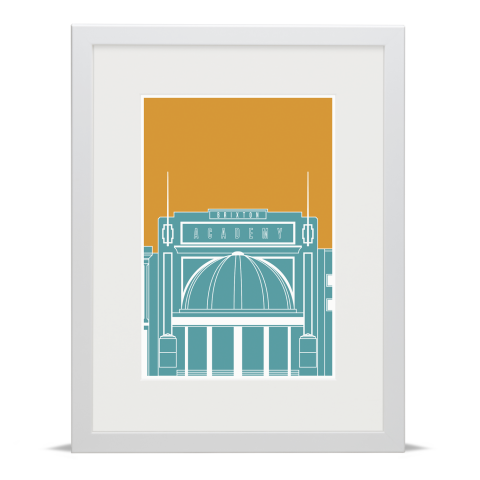 Brixton Academy Blueprint Blue Gold White Frame