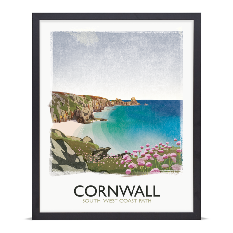 Place in Print Rick Smith Cornwall01 Travel Poster Art Print 40x50cm Black Frame
