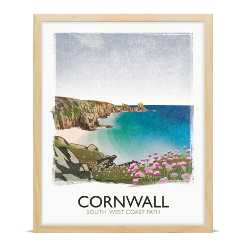 Place in Print Rick Smith Cornwall01 Travel Poster Art Print 40x50cm Wood Frame