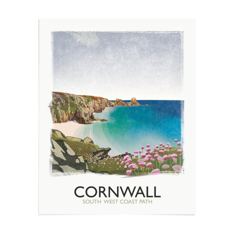 Place in Print Rick Smith Cornwall01 Travel Poster Art Print 40x50cm Print-only