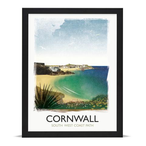 Place in Print Rick Smith Cornwall03 Travel Poster Art Print 30x40cm Black Frame