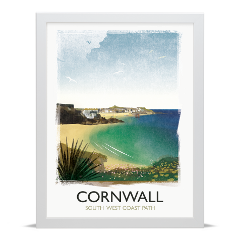 Place in Print Rick Smith Cornwall03 Travel Poster Art Print 30x40cm White Frame