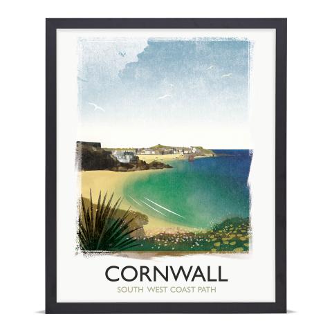 Place in Print Rick Smith Cornwall03 Travel Poster Art Print 40x50cm Black Frame