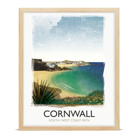 Place in Print Rick Smith Cornwall03 Travel Poster Art Print 40x50cm Wood Frame
