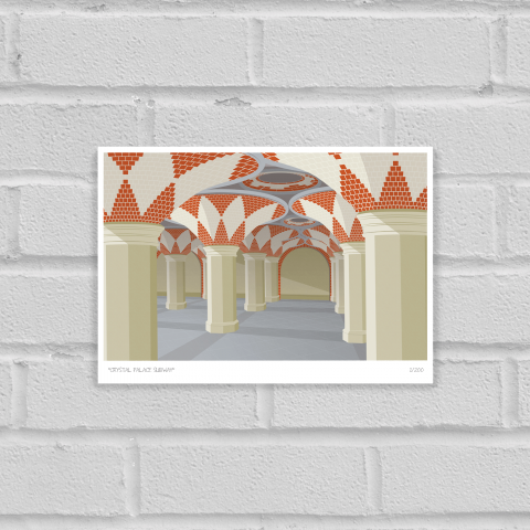 South London Prints Crystal Palace Subway Art Poster Print Unframed
