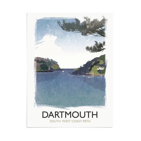 Place in Print Rick Smith Dartmouth Travel Poster Art Print 30x40cm Print-only