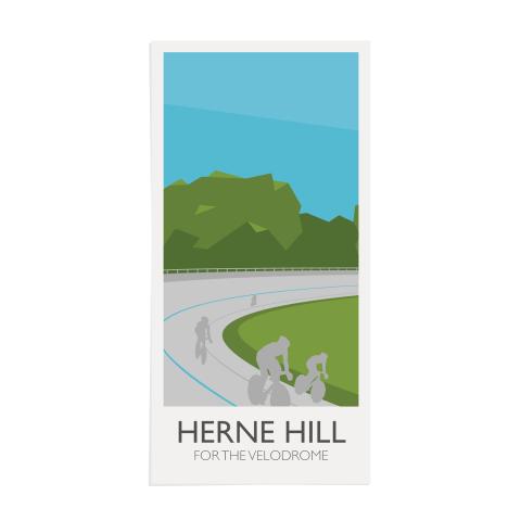 Place in Print Herne Hill for the Velodrome Lamppost Banner Art Print Unframed