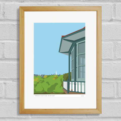 Place in Print Horniman Bandstand London Art Poster Print Wood Frame