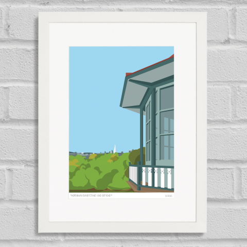 Place in Print Horniman Bandstand London Art Poster Print White Frame