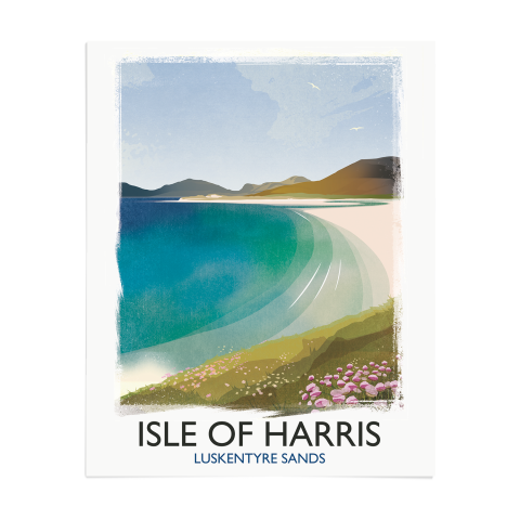 Place in Print Rick Smith Isle of Harris Travel Poster Art Print 40x50cm Print-only