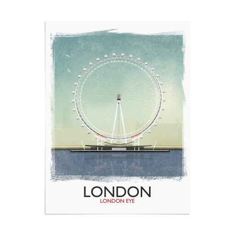 Place in Print Rick Smith London Eye (Day) Travel Poster Art Print 30x40cm Print-only