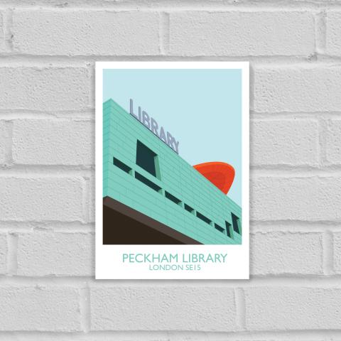 Peckham Library Art Poster Print Unframed