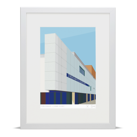 Place in Print Streatham Ice and Leisure Centre Art Print White Frame