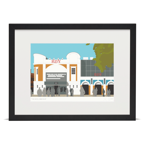Place in Print The Ritzy Brixton Art Print Black Frame