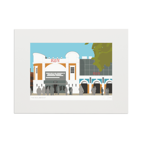 Place in Print The Ritzy Brixton Art Print Mounted